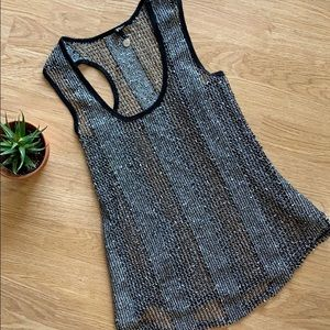 Mesh tank with sequins